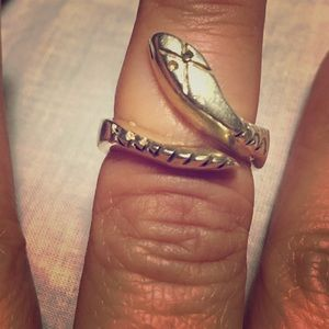 Sterling Silver snake ring, Mexico 925